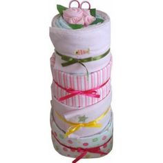Under the Sea Nappy Cake Pink | Baby Gifts  Baskets. #Ideas for #baby, #girl gift, #gift for new. http://www.heritagehampers.com/gift-types/baby-gifts-nappy-cakes/under-the-sea-nappy-cake---pink---baby-gift