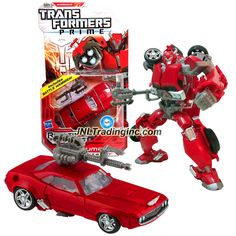 """Transformers RID Prime Series Deluxe Class 6"""" Tall Figure #2 - Autobot CLIFFJUMPER with Battle Hammer (Vehicle Mode: Muscle Car)"""