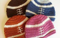 pattern for a crochet football hat