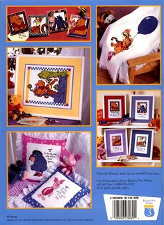 P is For Pooh Cross Stitch Book 20 Adorable by ladydiamond46