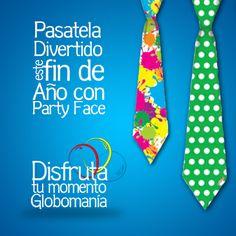 Ponle corbata a tus eventos con #PartyFace  #DisfrutaTuMomentoGlobomanía