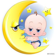 Baby with Moon