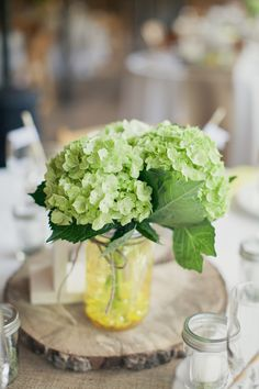DYI Cut woods rounds for centerpieces