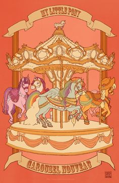 my little pony - carousel nouveau ii by ~iamacoyfish on deviantART MLP Little Poney, Carousel Horses, My Little Pony Friendship, Mlp My Little Pony, Twilight Sparkle, Deviantart, Cute Art, Anime, Illustration Art