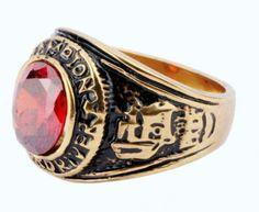 316L-Stainless-Steel-red-stone-golden-motor-biker-cool-rings-8-9-10-11-12
