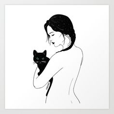 Cat lover For a good week ahead Cat lover For a good week ahead Art And Illustration, Lovers Art, Cat Lovers, Cat Drawing, Cat Tattoo, Crazy Cat Lady, Oeuvre D'art, I Love Cats, Cat Art
