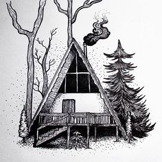 Throwback to my favorite winter cabin illustration. Sorry for the delay, The new Stray Together Shenandoah designs and winter apparel will be released soon! In the mean time, click the link in my bio and see what what we already have up! Leave us a comment and let us know what you think! Thanks everyone and have a great Thursday! ✌️️ • • • • • •…