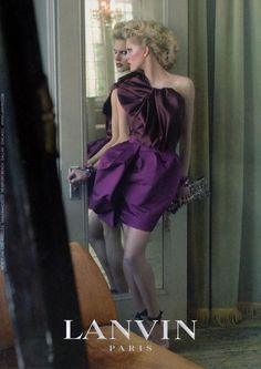 You are interested in Lanvin by Steven Meisel? Fashion ads, pictures, prints and advertising of Lanvin by Steven Meisel can be found here. Jeanne Lanvin, Style Couture, Couture Fashion, Miu Miu, Mode Purple, Deep Purple, Claude Montana, Bouchra Jarrar, Campaign Fashion