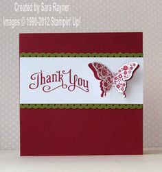Papillion Potpourri & Perfectly Penned are paired for this quick & easy card by Sara.