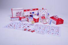 KuKu Fastfood Packaging by Xu Boyang, via Behance PD