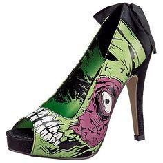 Iron Fist Zombie Stomper Pumps, Farbe schwarz-kombi