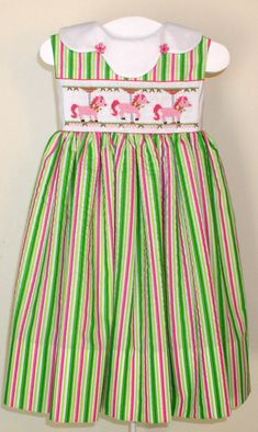 http://www.crosseyedcricketsmocking.com/images/262%20Pretty%20Little%20Ponies.JPG Smocking Tutorial, Smocking Patterns, Smocking Plates, Cute Outfits For Kids, Toddler Girl Outfits, Heirloom Sewing, Smock Dress, Cross Eyed, Little Girl Dresses