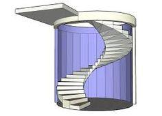 Resultado de imagem para spiral staircase sketch