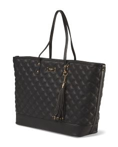 image of Quilted Dual Handle Tote