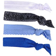 Glam Bands Blues Combo Hair Ties ($14) ❤ liked on Polyvore featuring accessories, hair accessories, hair, blue, head, blue combo, elastic hair ties, ponytail hair ties, blue hair accessories and knotted hair ties