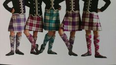 2nd from the right - kilt with purple jacket #cunningham #purple #tartan