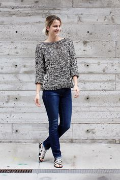 Knit this gorgeous pullover with 24/7 Cotton! Get the pattern by Two of Wands!