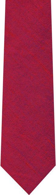 Red/Purple Thai Rough Silk Tie #6