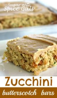 Zucchini Butterscotch Bars is part of Desserts If you have those zucchini& that you neglected to pick and now they are as big as a small baseball bat, shred them and make some yummy zucchini bars! My Recipes, Cookie Recipes, Dessert Recipes, Favorite Recipes, Recipies, Dessert Ideas, Bread Recipes, Zucchini Bars, Zucchini Bread