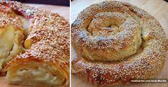 Jednoduchý řecký chléb plněný sýrem feta