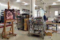 ellen gallagher in her rotterdam studio. 2013