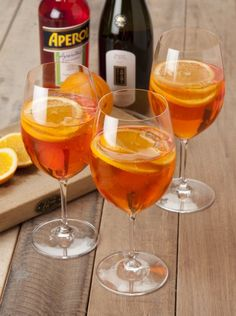Aperol Spritz - my new fave cocktail.   3 parts proseco  2 parts Aperol  1 part sparkling water
