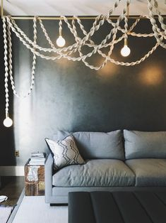 The Helix Chandelier making a cozy white cloud in Dolores Heights home. Thank you for the opportunity, Katie and . Macrame Art, Macrame Projects, White Chandelier, Decoration Inspiration, Macrame Patterns, Room Decor, Wall Decor, House Design, Interior Design
