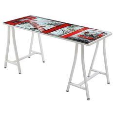 Escritorio vidrio 150x60x76 cm London - Sodimac.com $60.000