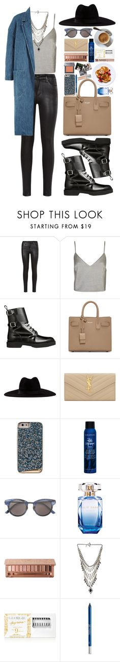 """Hey Jude"" by vanessasimao ❤ liked on Polyvore featuring Citizens of Humanity, Balmain, Yves Saint Laurent, Filù Hats, Case-Mate, Bumble and bumble, Bottega Veneta, Elie Saab, Urban Decay and Vanessa Mooney"