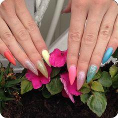 Värikkäät LCN kesäkynnet. Colorful summer nails. www.studiorose.fi Summer Nails, Gel Nails, Colorful, Studio, Rose, Summery Nails, Gel Nail, Pink, Roses