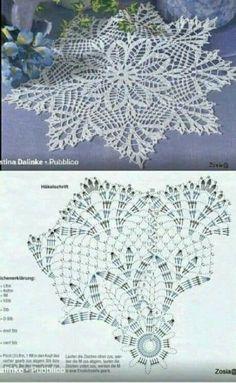Crochet Books, Crochet Home, Thread Crochet, Knit Crochet, Crochet Dollies, Crochet Flowers, Crochet Square Patterns, Stitch Patterns, Crochet Circles