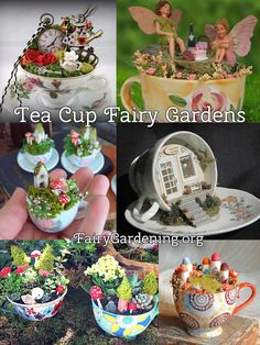 For you Girlfriend when we die we will live as fairies in a magical land and drink tea all day ♥ Fairy Garden Houses, Fairy Gardening, Mini Fairy Garden, Gnome Garden, Fairy Land, Miniature Gardens, Mini Gardens, Indoor Fairy Gardens, Fairy Terrarium