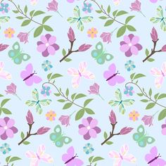 Seamless pattern spring by foodphotolove on Creative Market