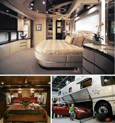 Largest Luxury Bus Services with Houses Structure. Largest Luxury Bus Services with Houses Structure. Trailer Interior, Rv Interior, Interior Design, Luxury Caravans, Luxury Motorhomes, Rv Motorhomes, Vida No Trailer, Rv Trailer, Luxury Rv Living