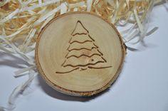 Świąteczna podkładka pod kubek - choinka - Drewnianedodatki - Dekoracje bożonarodzeniowe