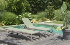 Atlantico stackable Pool Lounger, suitable for indoor and outdoor use.