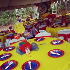 Snow White colored table linens, chair covers, and sashes.   Along with plate wear,  rolled silverware, and center pieces.