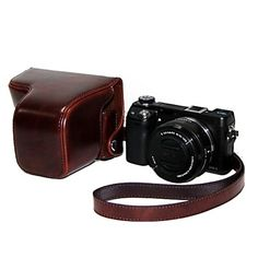 Ever Ready Protective Brown Leather Camera Case Bag Cover for sony nex6Digital Camera http://mxpi.co.nf/?item=1521914