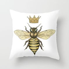 Buy La Abeja Reina by Warm Honey as a high quality Throw Pillow. Worldwide shipping available at Society6.com. Just one of millions of products available.