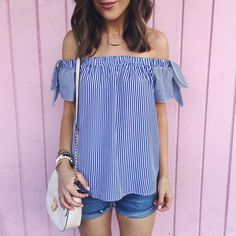 The cutest #offtheshoulder top for under $30!