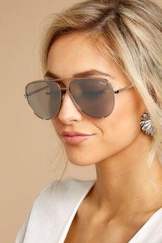 27573fab9b935 Quay Australia Silver Sunglasses - Mirrored Sunnies - Aviators -  65 – Red  Dress Boutique Purple
