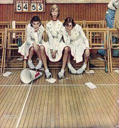 Original Norman Rockwell Paintings | Norman Rockwell's Cheerleaders