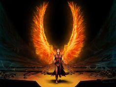 Wings of fire Wings Of Fire, Wings Wallpaper, Angel Wallpaper, Music Wallpaper, Male Angels, Angels And Demons, Art Sombre, Dark Angel Wings, Angel Fire