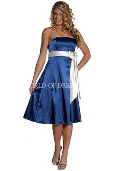 Royal Blue Bridesmaid Dresses | New Arrival Royal Blue Bridesmaid Dress with Strapless Neckline and ...