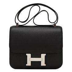 Hermes Black Epsom Constance 24cm Palladium Hardware  hermes Hermes Birkin cbdfac6d82cbf