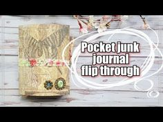 My pocket junk journal is finished! Junk journal flip through - YouTube