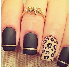 Black Gold Nails Pretty Nails with Gold Details nails ideas nails design Manicure Ideas featured. Metallic Nails, Matte Nails, Acrylic Nails, Coffin Nails, Stiletto Nails, Gradient Nails, Holographic Nails, Nude Nails, Pink Coffin