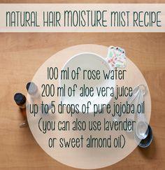 Natural hair moisture mist from on IG Natural Hair Care Tips, Natural Hair Journey, Natural Hair Styles, Natural Makeup, Hair Care Recipes, Hair Porosity, Diy Hair Care, Black Hair Care, Hair Regimen