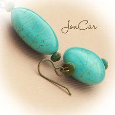 Vintage Arizona EarringsChunky earrings with petite genuine turquoise  $18.00