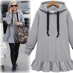 Girls Fashion Clothes, Kids Fashion, Clothes For Women, Womens Fashion, Fashion Design, Muslim Fashion, Hijab Fashion, Fashion Dresses, Hooded Dress